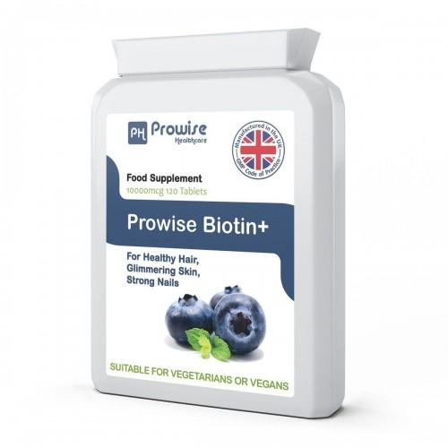 Biotină 10.000 Mcg – Vitamina B7,120 capsule