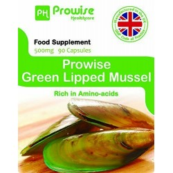Green Lipped Mussel (Scoică cu cochilie verde) de 500 mg, 90 capsule