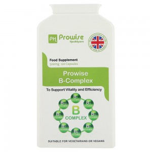 Vitamina B Complex de 500 mg, 120 capsule