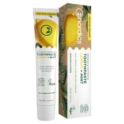 Pastă de dinți organică pentru albire a dinților Lemon + Mint, 75 ml