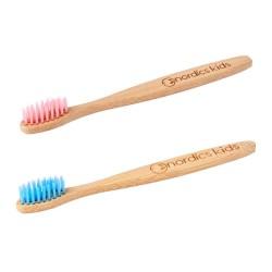 Periuță de dinți pentru copii din bambus - cu peri moi pentru dinți sensibili